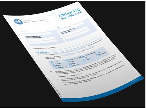 Mietvertrag Vorlage/ Musterschreiben
